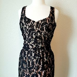 Nanette Lepore Black Lace Fitted Dress